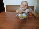 Вот как мы кушаем спагетти!!!